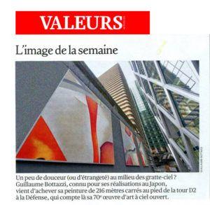 Valeurs Actuelles au sujet de Guillaume Bottazzi et de sa peinture monumentale à Paris