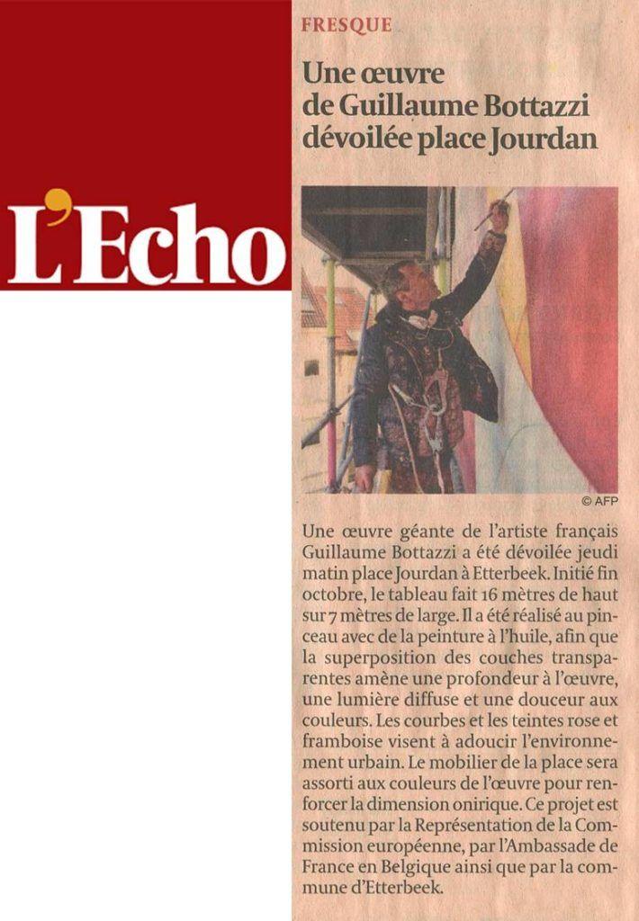 Guillaume Bottazzi, article sur L'Echo, journal économique belge