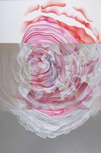 Tableau de l'artiste abstrait Guillaume Bottazzi. Huile sur toile, 300 x 200 cm, 2015