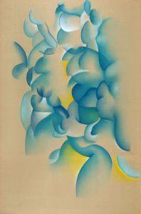 Peinture abstraite de l'artiste contemporain Guillaume Bottazzi, huile sur toile de lin brut, 300 x 200 cm, 2017