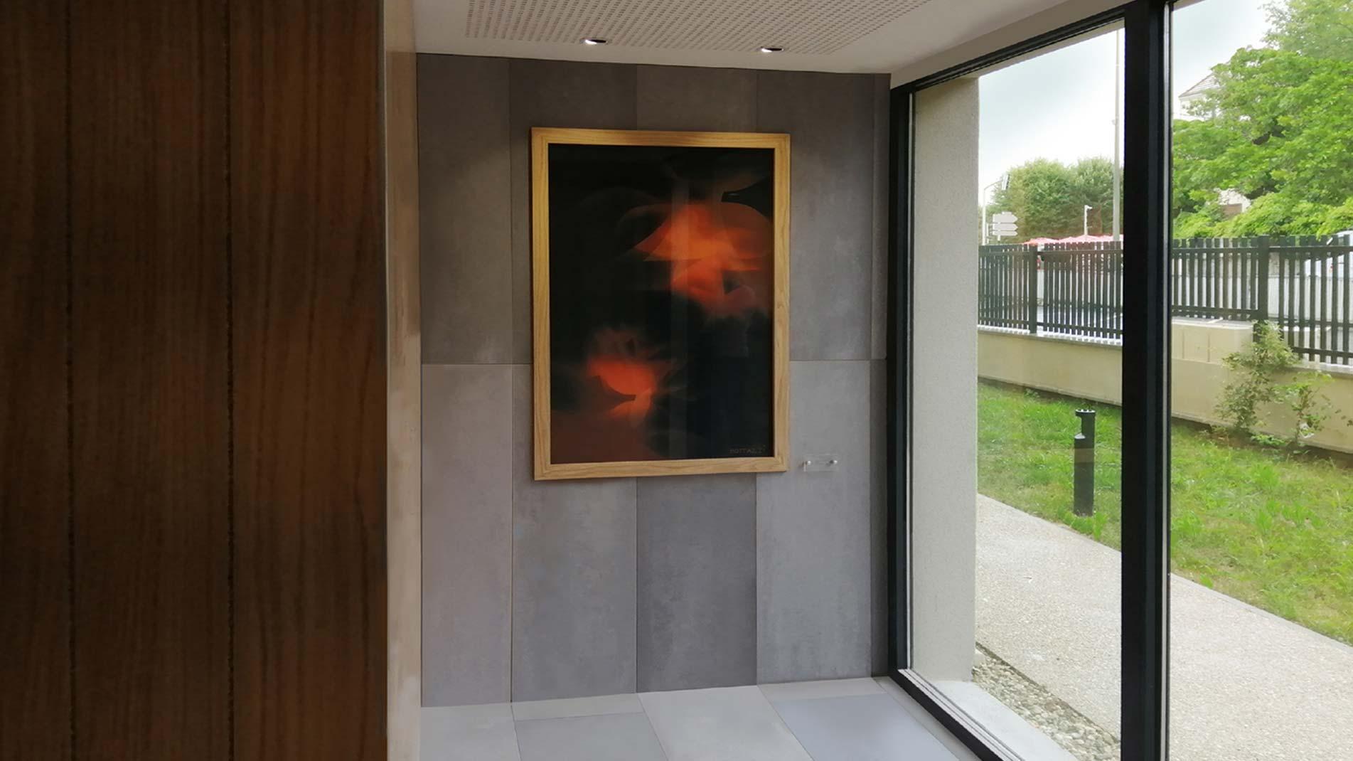 Oeuvre de Guillaume Bottazzi réalisée avec des émaux, collection permanente, Ile de France