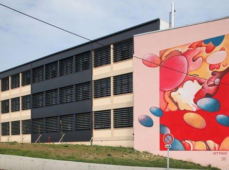 Cette fresque monumentale de l'artiste Guillaume Bottazzi est inscrite aux journées européennes du patrimoine chaque année
