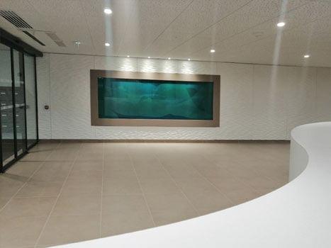 Cette oeuvre composée d'émaux est une création de Guillaume Bottazzi. Elle est à découvrir à l'occasion des journées européennes du patrimoine