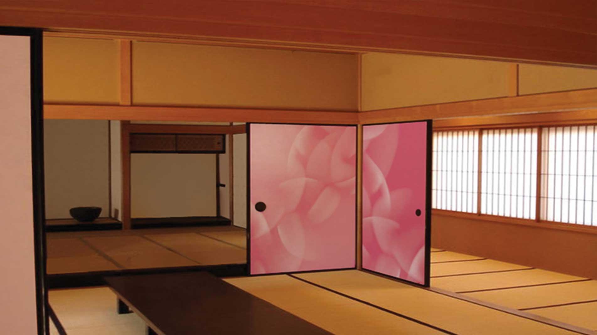 Art in situ par l'artiste Guillaume Bottazzi au Japon, Hokkaido, peinture sur papier
