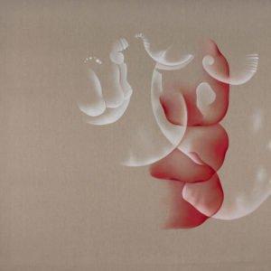 Guillaume Bottazzi, huile sur toile, 200 x 200 cm, 2012. Peinture abstratite.