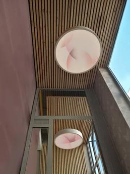Installation lumineuse de l'artiste Guillaume Bottazzi à Lyon, inaugurée à l'occasion des journées européennes du patrimoine 2020