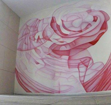 Cette fresque de l'artiste Guillaume Bottazzi a été réalisée in situ. Elle se situe dans le quartier de Marseille Prado.