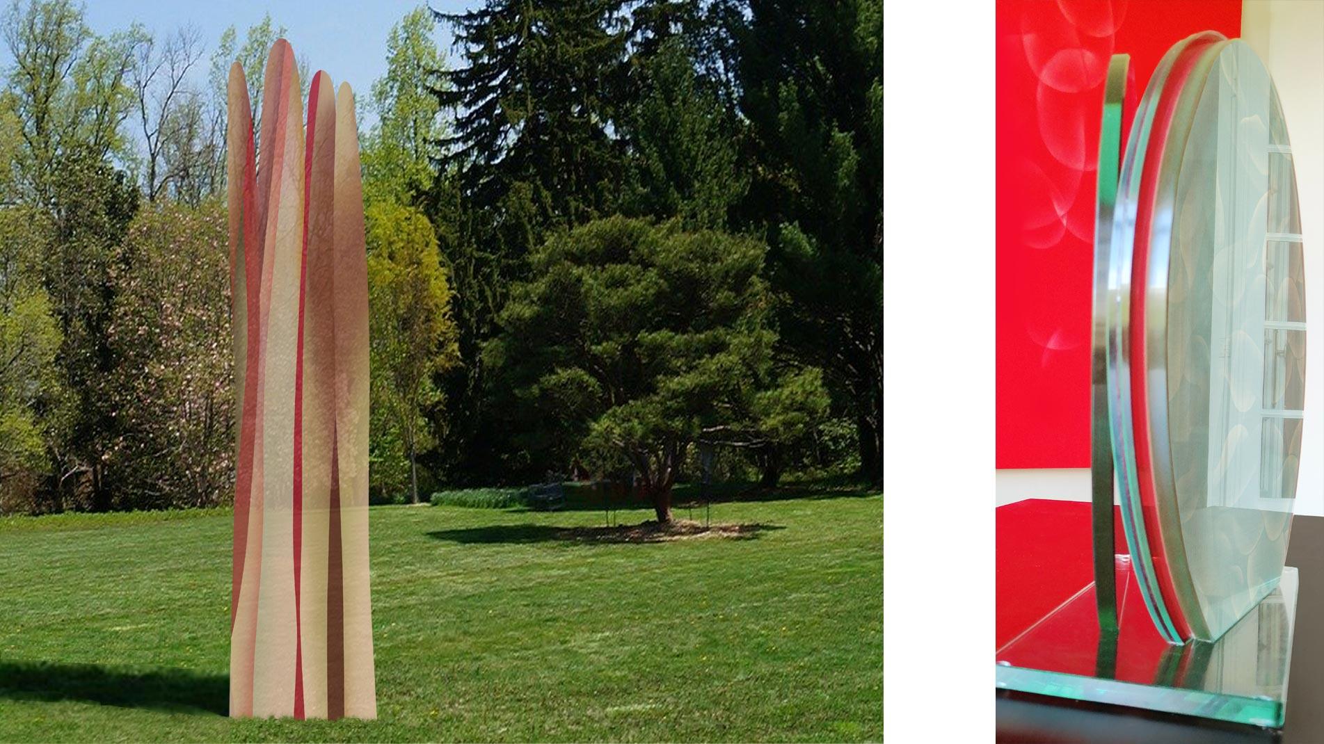 Sculptures en émaux de l'artiste Guillaume Bottazzi