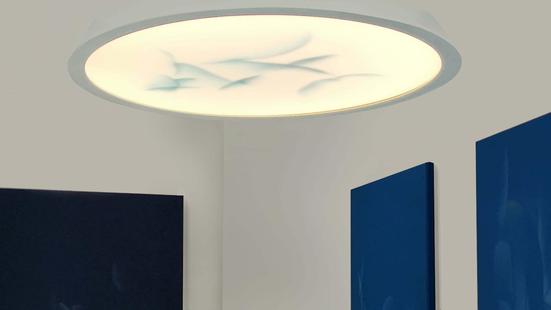Création lumineuse de Guillaume Bottazzi. Installation présentée lors de son exposition à la galerie Itsutsuji à Tokyo en 2019