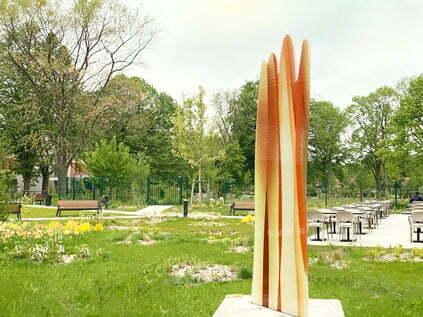 Sculpture monumentale en verre signée Guillaume Bottazzi