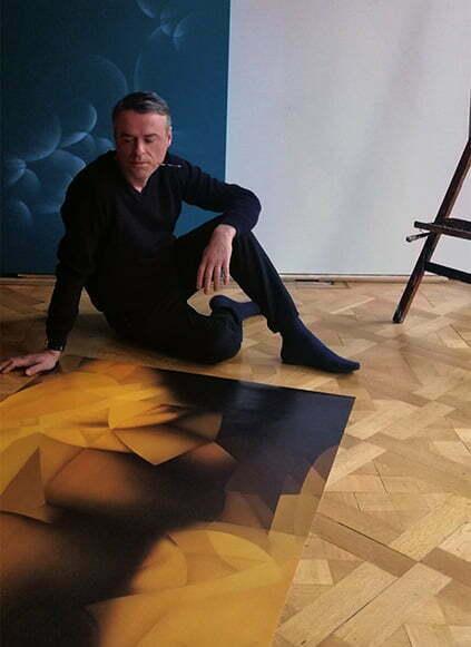 Guillaume Bottazzi, work in process in his artist studio in 2020