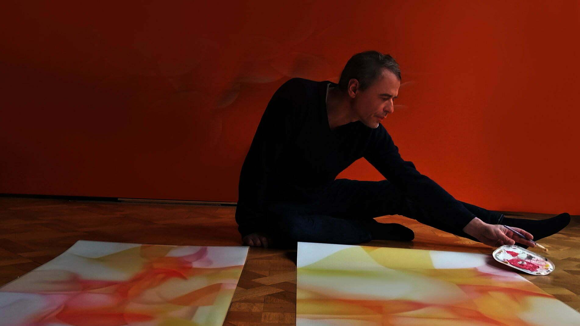 Guillaume Bottazzi, travail en cours en atelier, décembre 2020