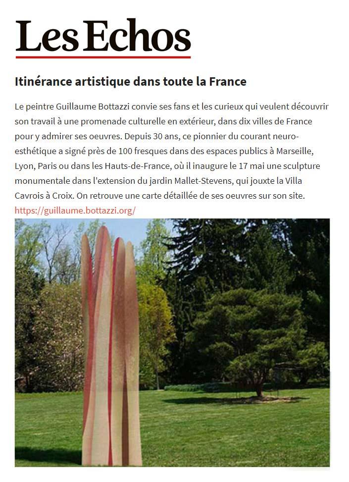 Article au sujet de Guillaume Bottazzi sur le journal Les Echos, mai 2021