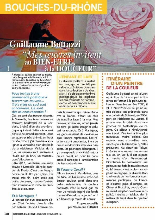 Article au sujet de Guillaume Bottazzi sur Mag éré 2021