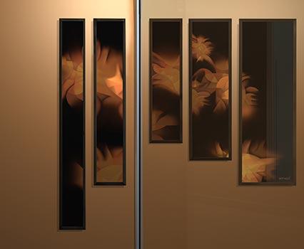Emaux sur verre, art in situ de l'artiste Guillaume Bottazzi à Montreuil, Grand Paris